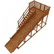 Зимняя деревянная горка для детской площадки - САМСОН НОРИЛЬСК (масло), фото 1