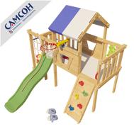 Домашняя спортивно-игровая площадка для детей - Чердак САМСОН ВИННИ, спальное место, горка, скалодром, турник, баскетбол, фото 1