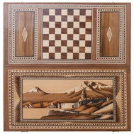 Нарды Церковь у Арарата инкрустация + орнамент, Zeynalyan, фото 1