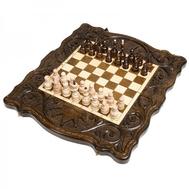 Шахматы + нарды резные Корона 40, Haleyan, фото 1