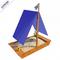 Песочница для малышей - САМСОН ЛАДЬЯ, сосна, тканевая крыша в виде паруса, флагшток, штурвал, фото 1